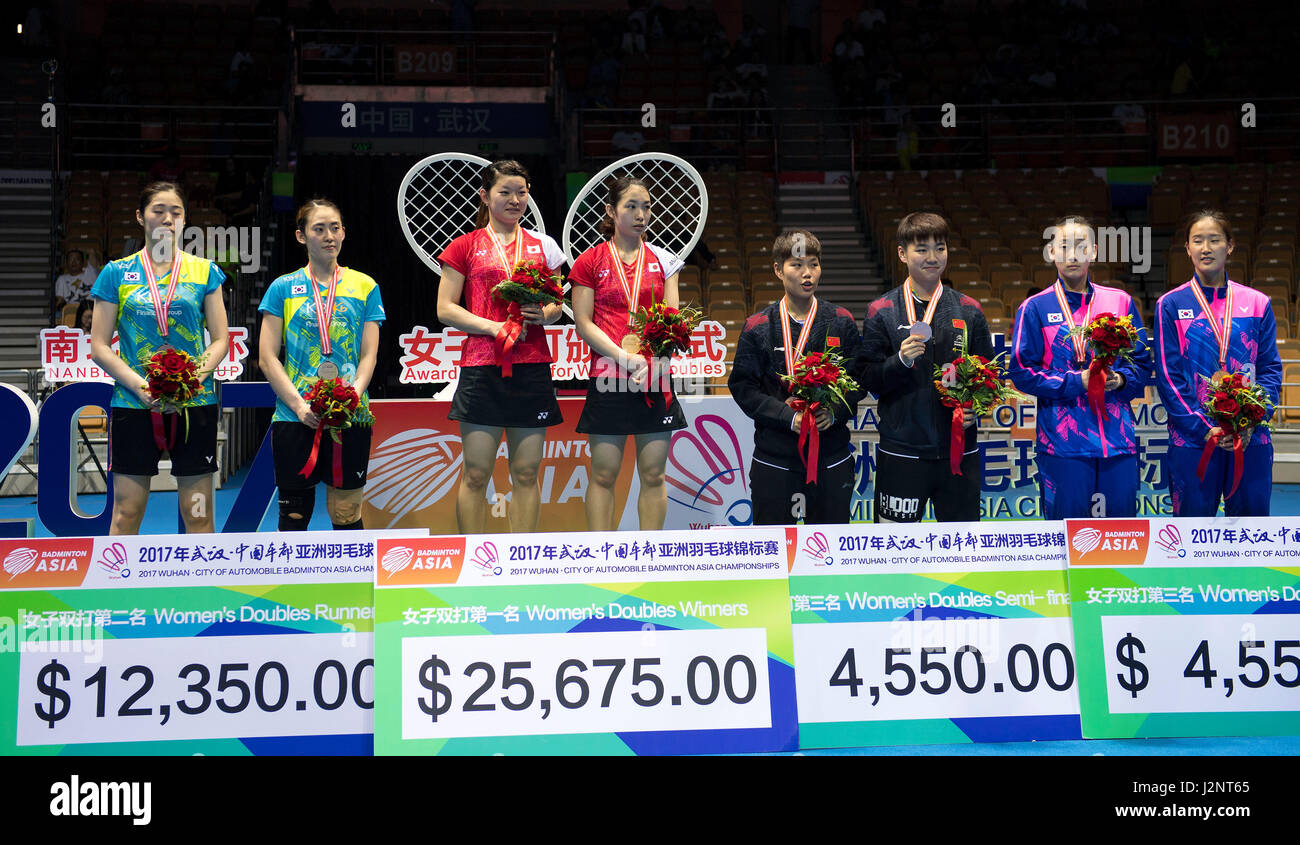 Wuhan China s Hubei Province 30th Apr 2017 Winners Japan s