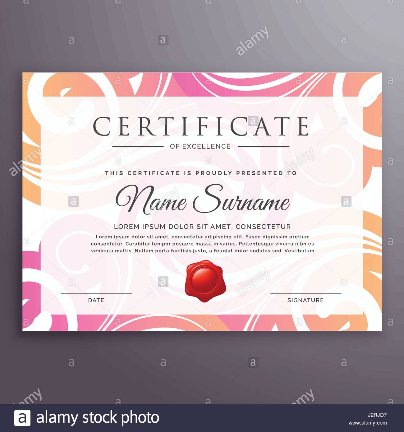 Stylish floral background certificate design template stock vector stylish floral background certificate design template alramifo Images