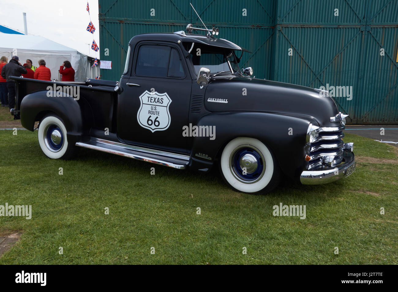 Vintage American pickup truck at Halfpenny Green Trainers, Radials ...