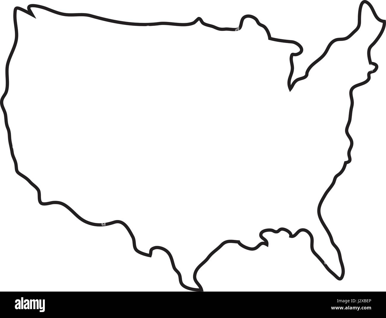Usa Country Map Icon Stock Vector Art Illustration Vector Image - Usa country map