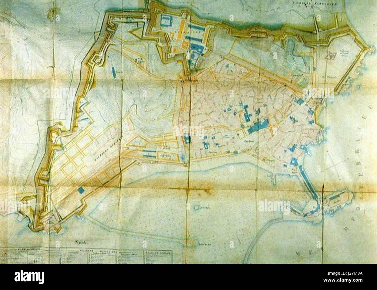 Alger algiers map plan villeneuve 1840 Stock Photo 139520874 Alamy