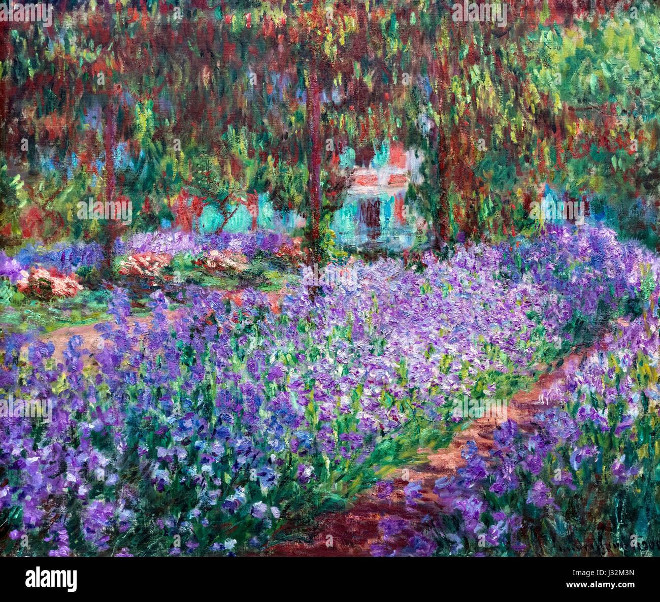 Monet painting entitled le jardin de l 39 artiste giverny - Livre le jardin de monet ...
