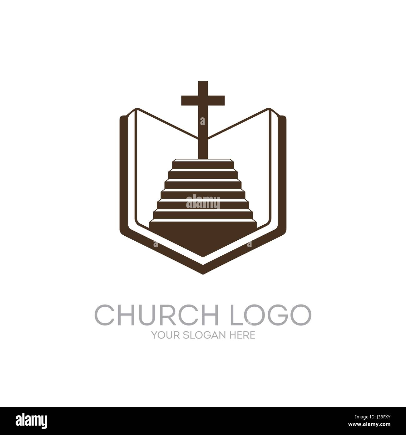 Church logo christian symbols bible holy scripture the christian symbols bible holy scripture the staircase leading to the lord and savior jesus christ on the cross at calvary biocorpaavc Image collections