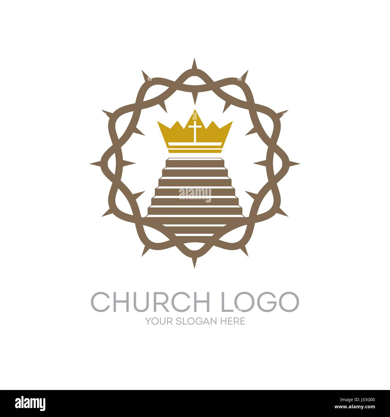 Church logo christian symbols the crown of thorns jesus christ christian symbols the crown of thorns jesus christ the savior and the staircase leading to the royal crown buycottarizona Image collections