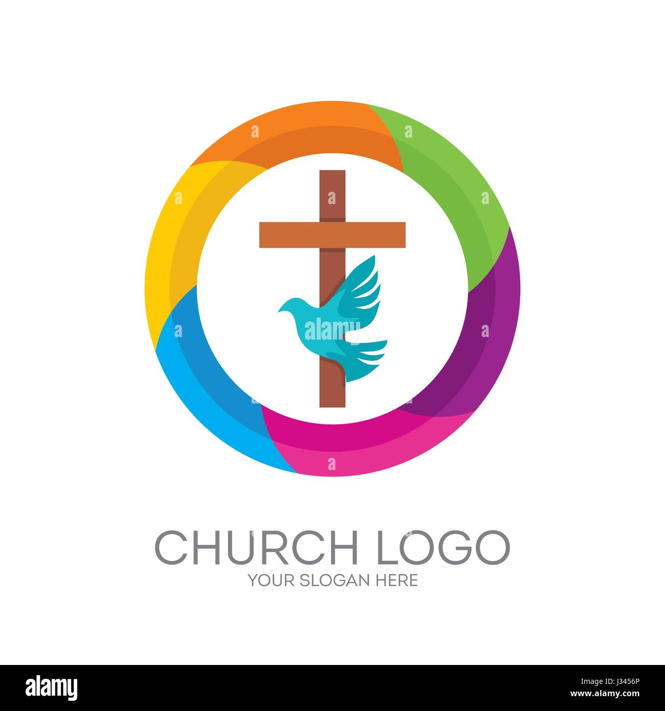 Church logo christian symbols the cross of jesus the holy christian symbols the cross of jesus the holy spirit dove biocorpaavc