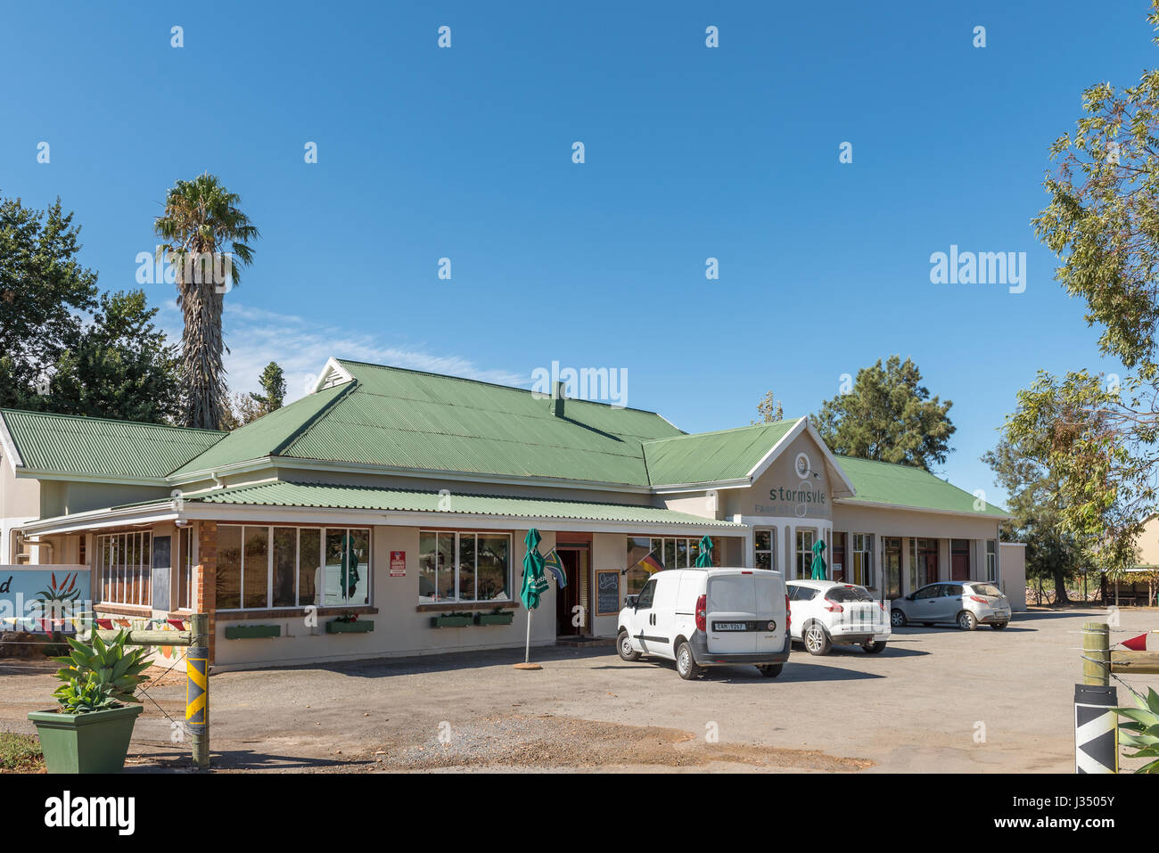 stormsvlei, south africa - march 26, 2017: a farm stall and stock