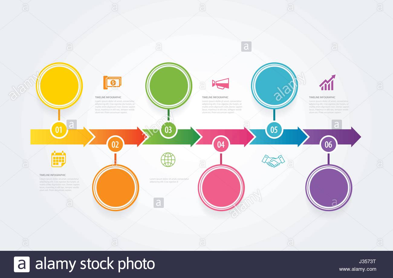 Free timeline infographic template
