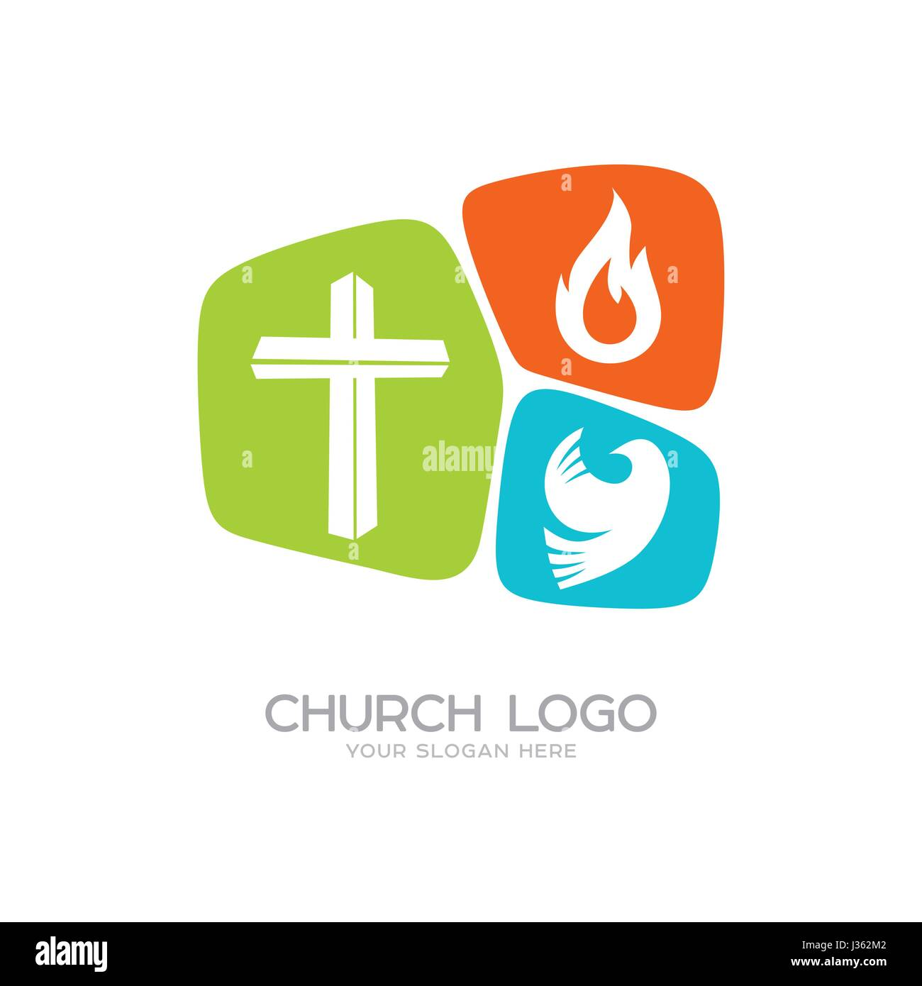 Church logo christian symbols the cross of jesus christ a dove church logo christian symbols the cross of jesus christ a dove the holy spirit and flame thecheapjerseys Gallery