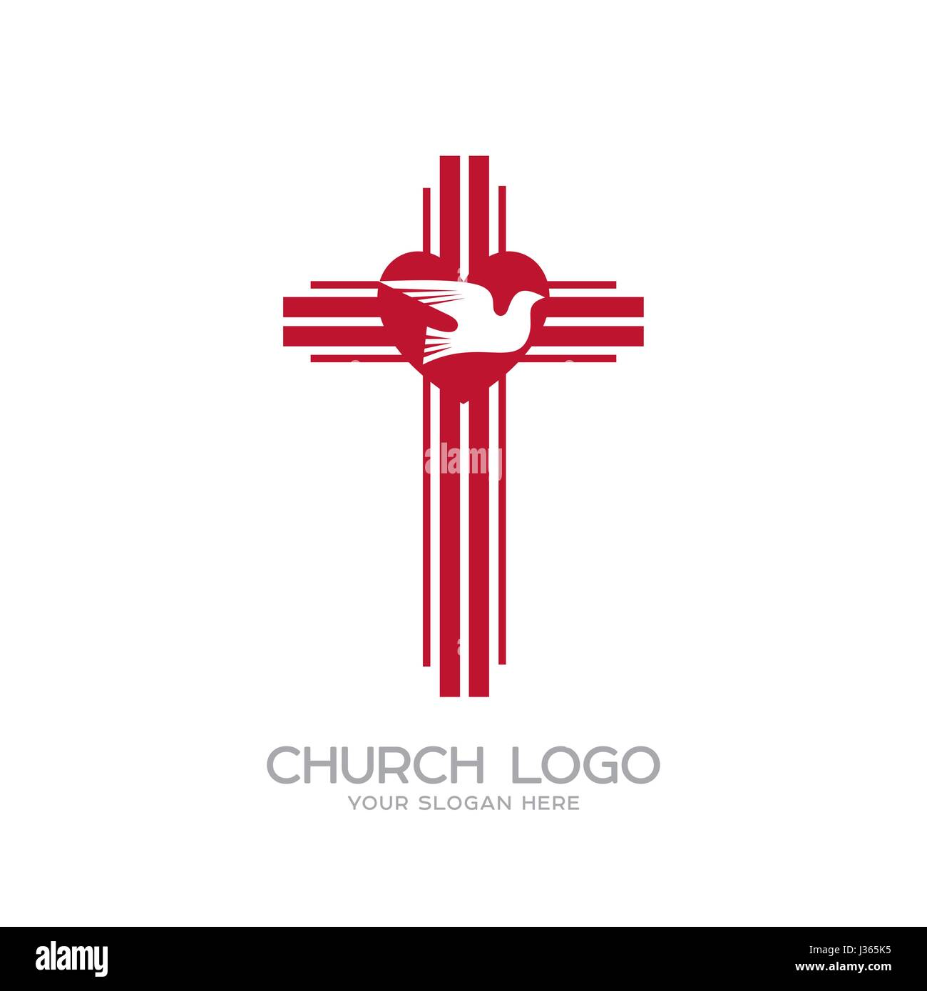 Church logo christian symbols the cross of the lord and savior christian symbols the cross of the lord and savior jesus christ the heart and the holy spirit is a dove biocorpaavc Image collections