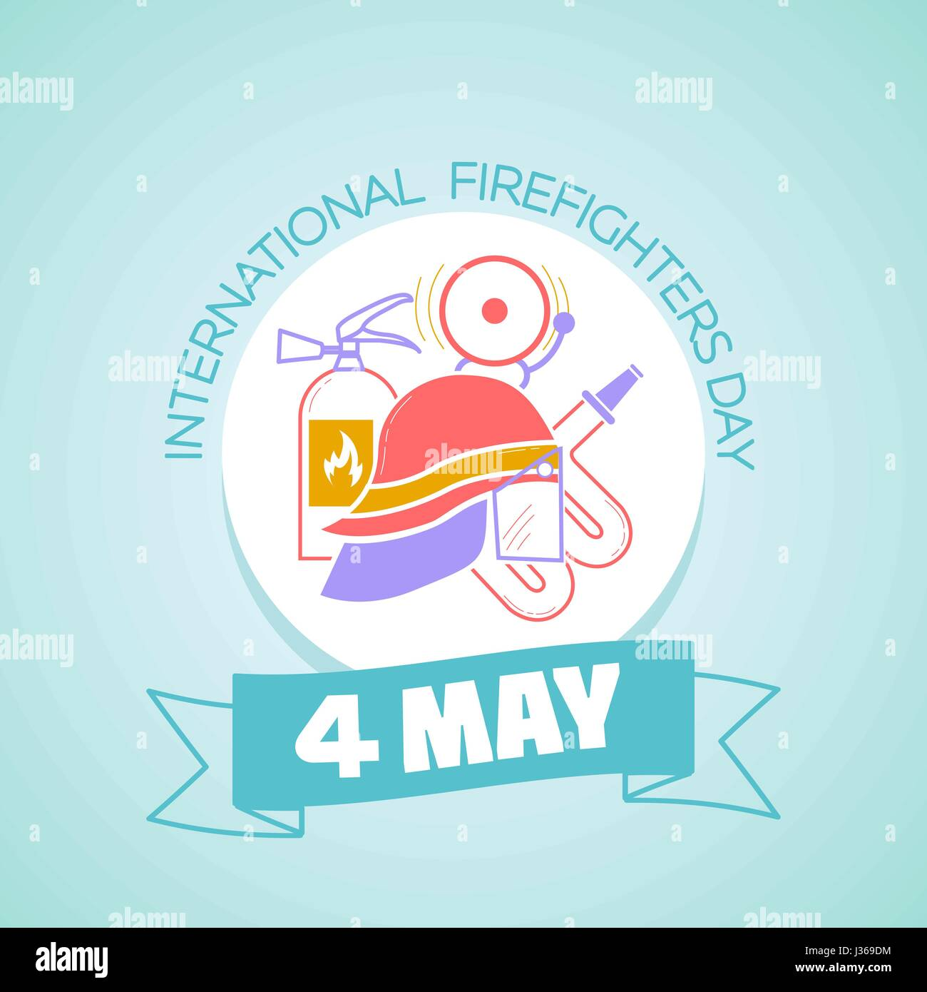 Calendar for each day on may 1 greeting card holiday stock vector calendar for each day on may 1 greeting card holiday international firefighters day icon in the linear style kristyandbryce Images
