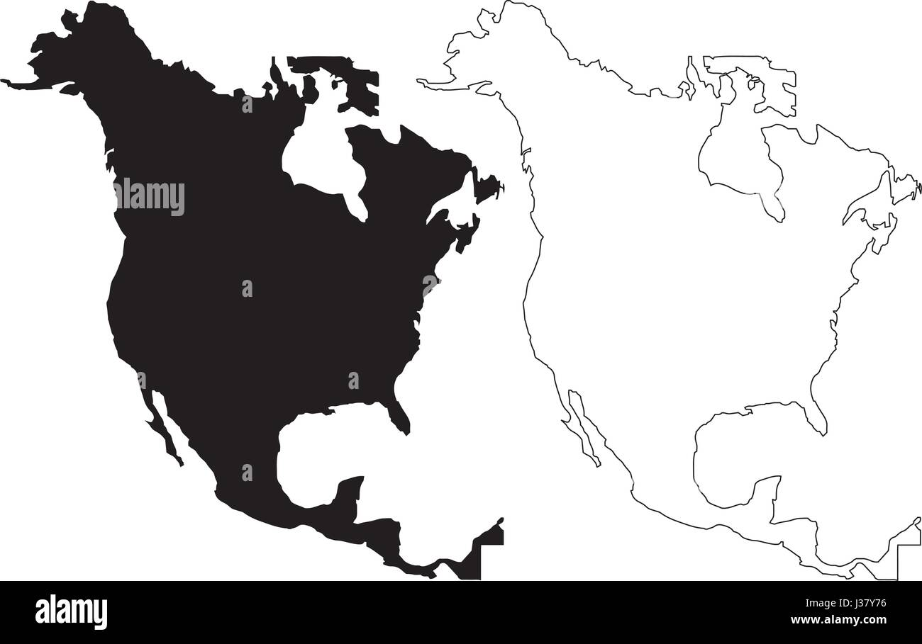 vector map of north america with countries single color free free