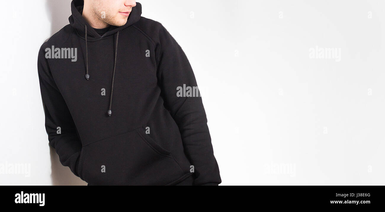Black hoodie template pullover hoodie mockup templates pack by go black sweatshirt template virtren com pronofoot35fo Image collections