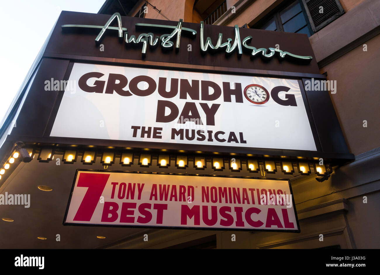 groundhog day the musical at the august wilson theatre on broadway