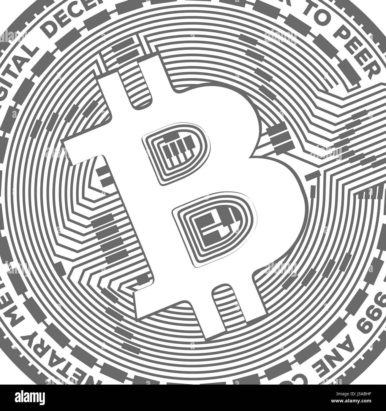 B  Bitcoin crypto coin sy...