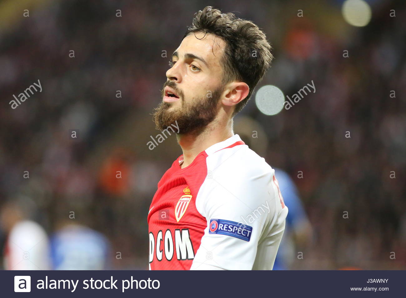 Monaco 03rd May 2017 Bernardo Silva AS Monaco during the 1st