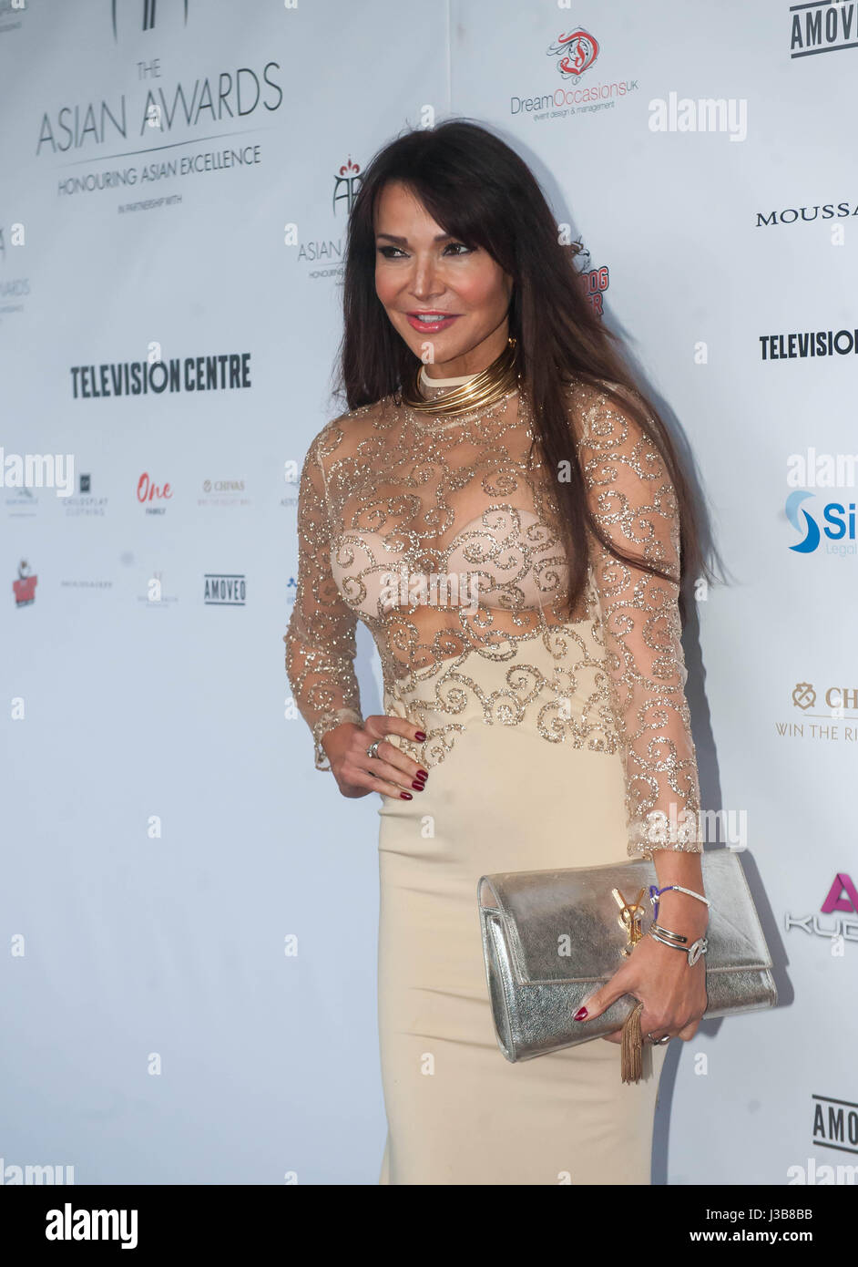 london, united kingdom. 5th may 2017. lizzie cundy attends the 7th