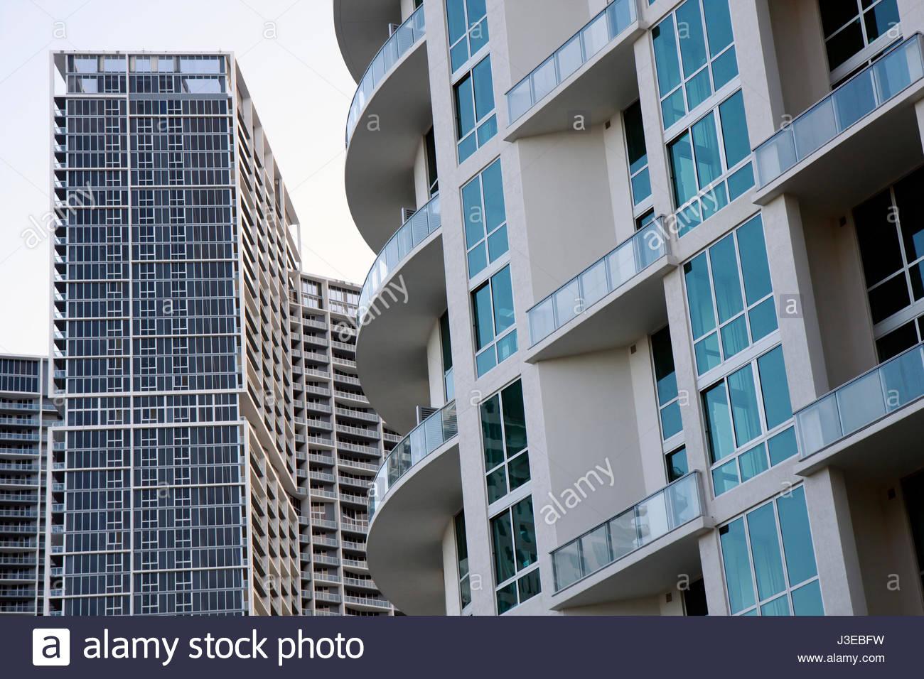 Miami Florida downtown building high rise multi-family dwelling ...