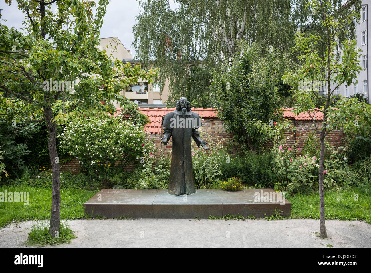 Garten berlin  Berlin. Germany. Comenius Garten. Statue of Johann Amos Comenius ...