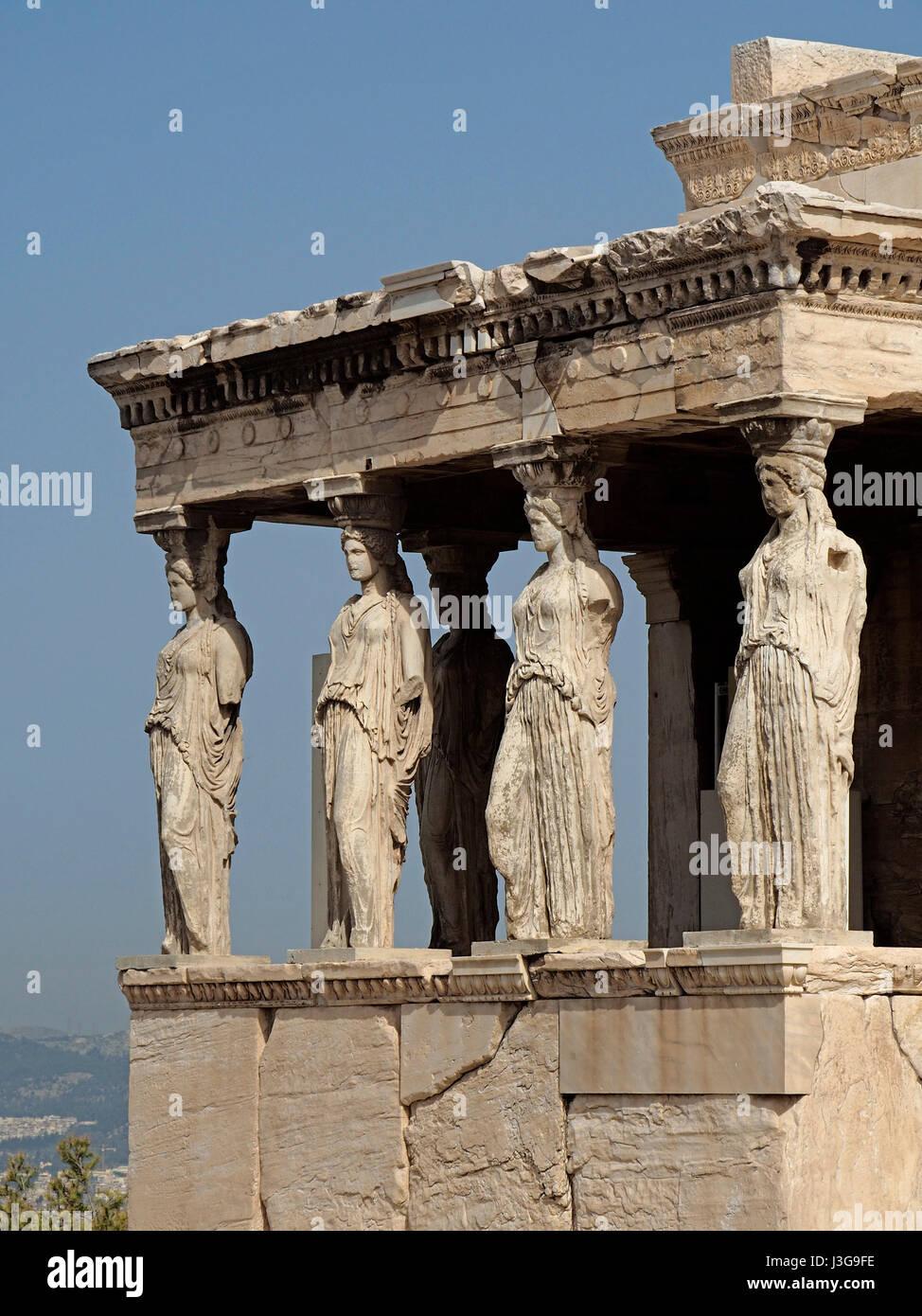 Statues of goddesses o...