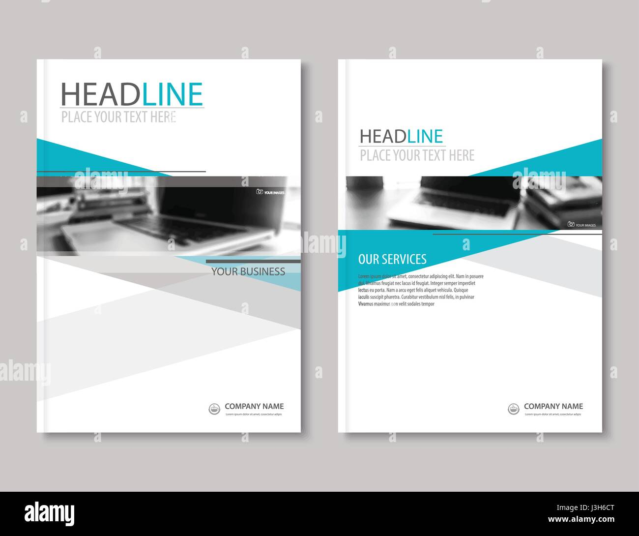 annual report brochure flyer design template  company profile stock vector art  u0026 illustration