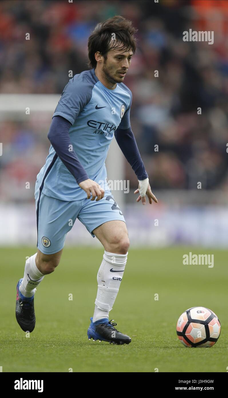 DAVID SILVA MIDDLESBROUGH FC V MANCHESTER RIVERSIDE STADIUM Stock