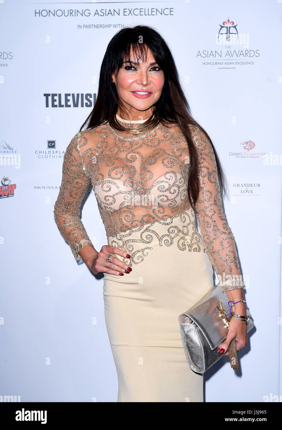 lizzie cundy attending the 7th annual asian awards at the hilton