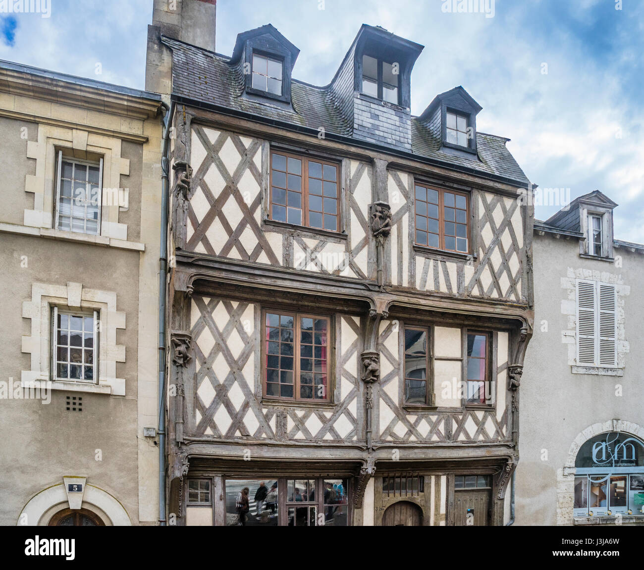 france centre val de loire blois la maison des acrobates the stock photo royalty free image. Black Bedroom Furniture Sets. Home Design Ideas