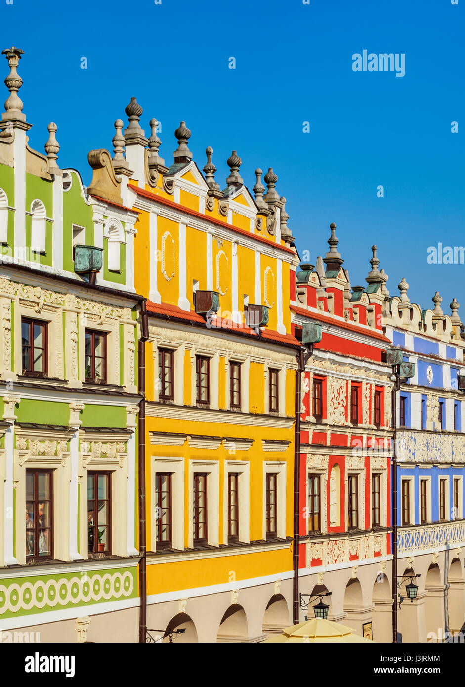 Poland Lublin Voivodeship Zamosc Old Town Colourful Houses On The Stock Photo Royalty Free
