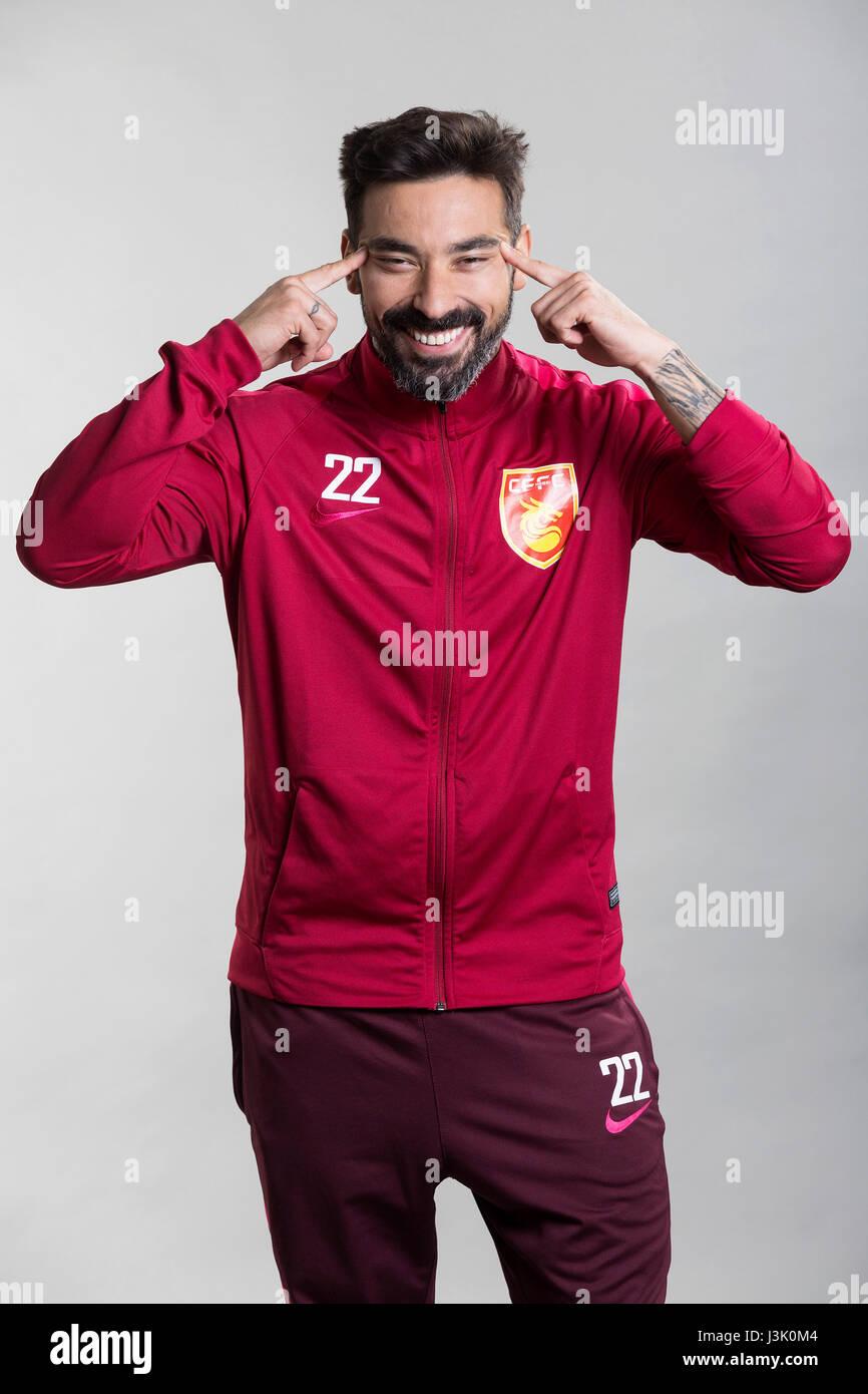 Portrait of argentine soccer player ezequiel lavezzi of hebei portrait of argentine soccer player ezequiel lavezzi of hebei china fortune fc for the 2017 chinese voltagebd Gallery