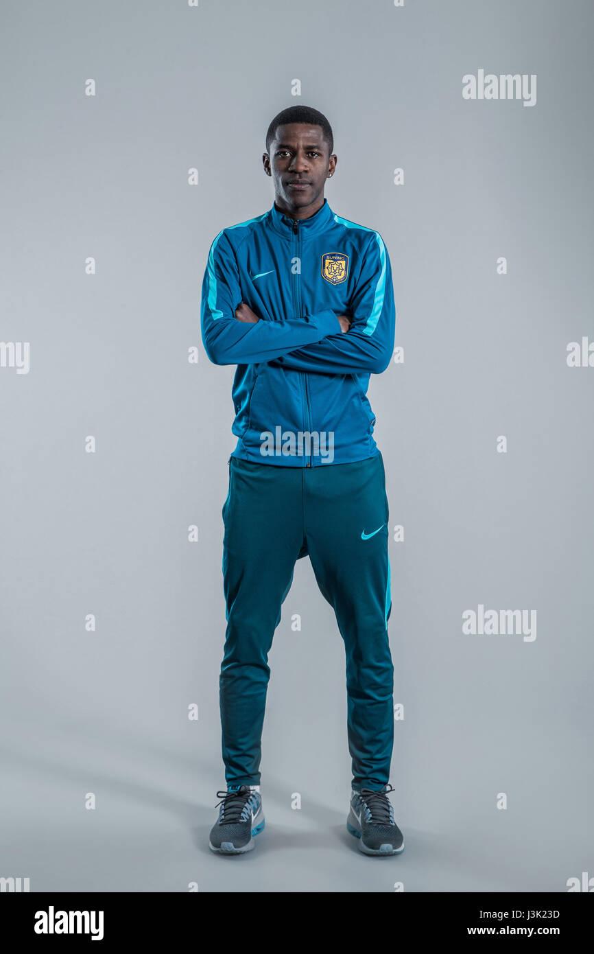 Portrait of Brazilian soccer player Ramires of Jiangsu Suning F C
