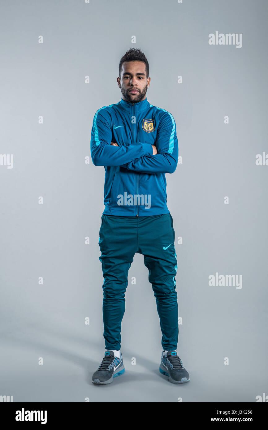 Portrait of Brazilian soccer player Alex Teixeira of Jiangsu