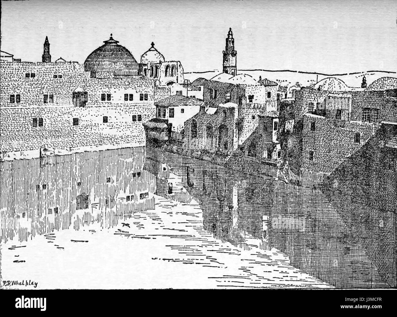 Line Drawing Jerusalem : Hezekiah s pool cairo jerusalem and damascus stock photo