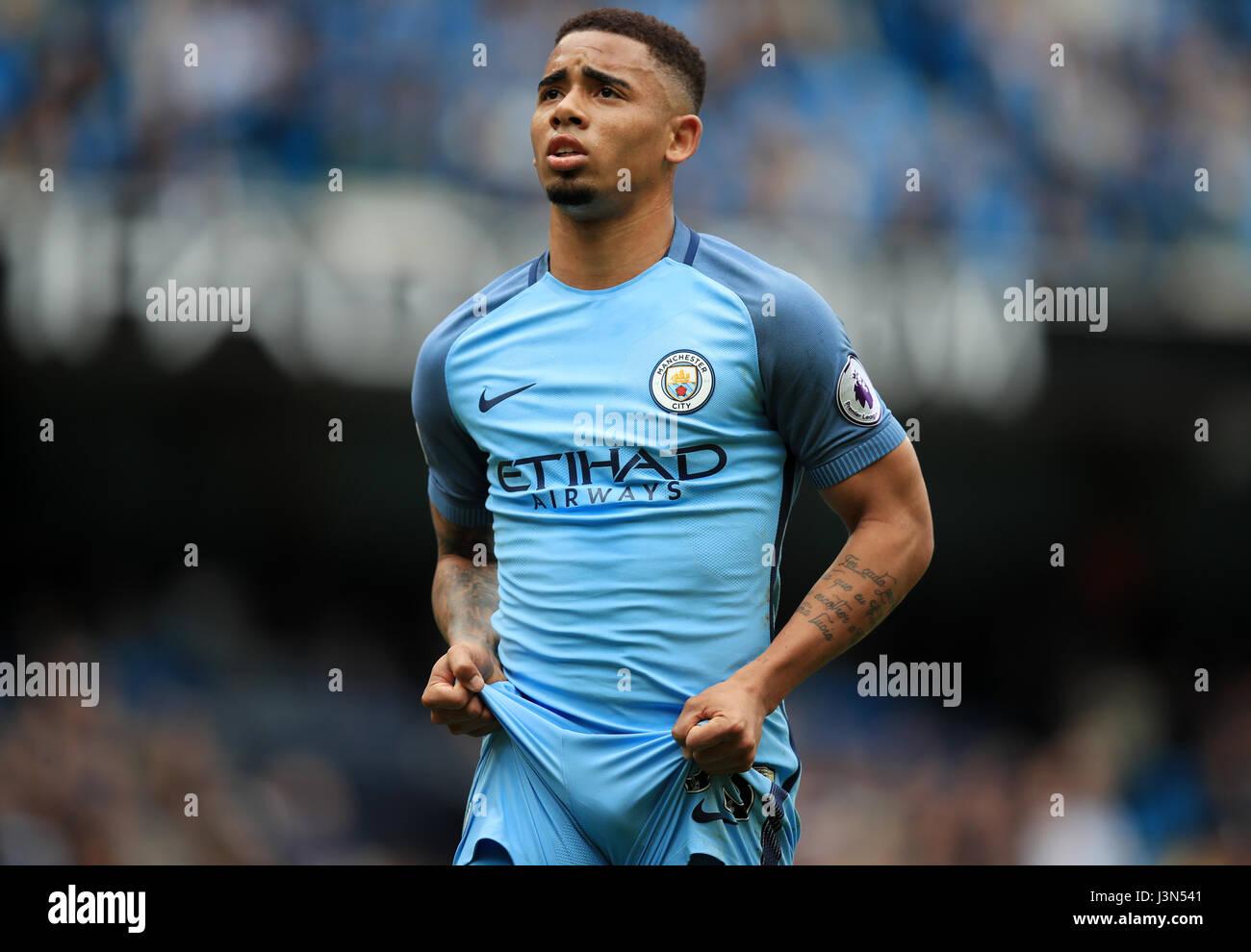 Manchester City s Gabriel Jesus during the Premier League match at