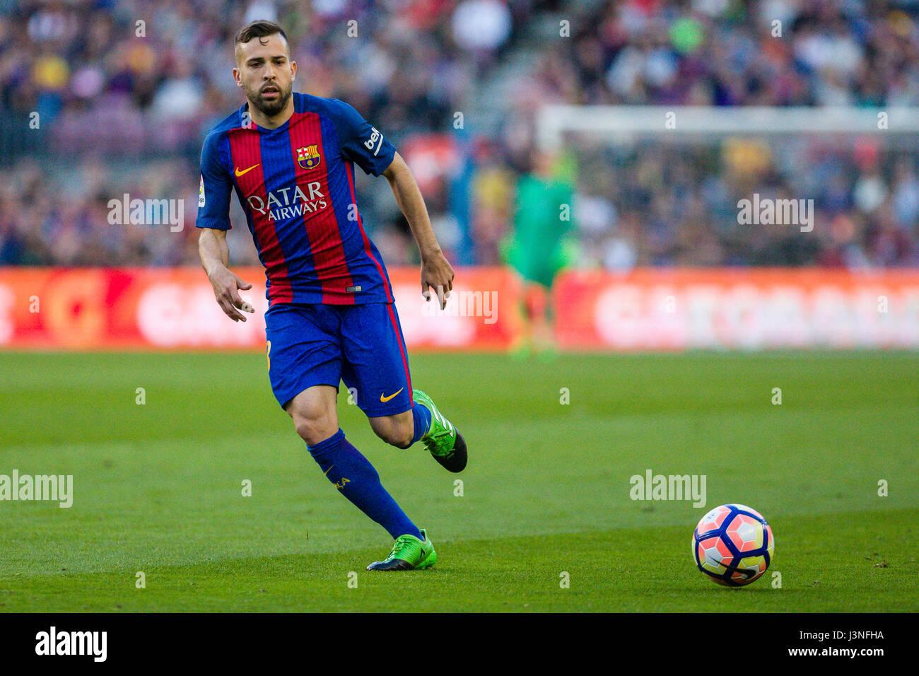 Barcelona Spain 06th May 2017 May 6 2017 Jordi Alba of FC