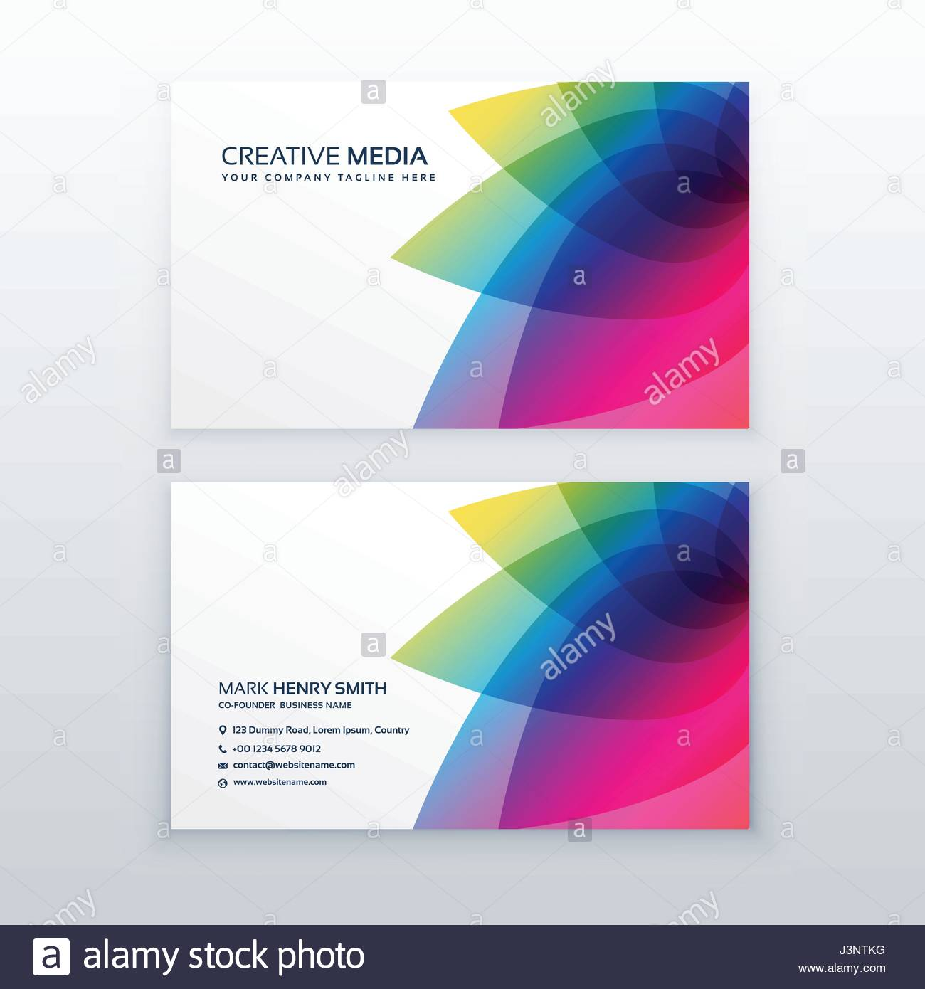 flower business card design template Stock Vector Art ...