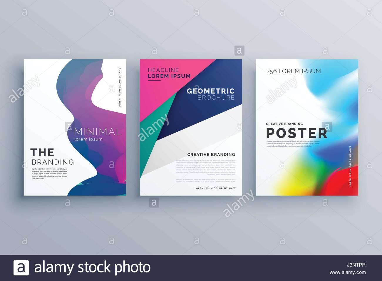 Set Of Minimal Brochure Template Leaflet Flyer Design In A Size - A4 brochure template
