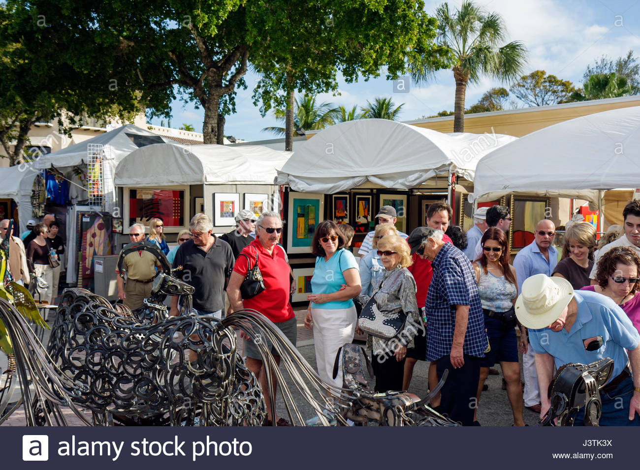 Fort Lauderdale Ft. Florida Las Olas Boulevard Las Olas Art Fair festival street fair community event art tent sculpture metal w & Fort Lauderdale Ft. Florida Las Olas Boulevard Las Olas Art Fair ...