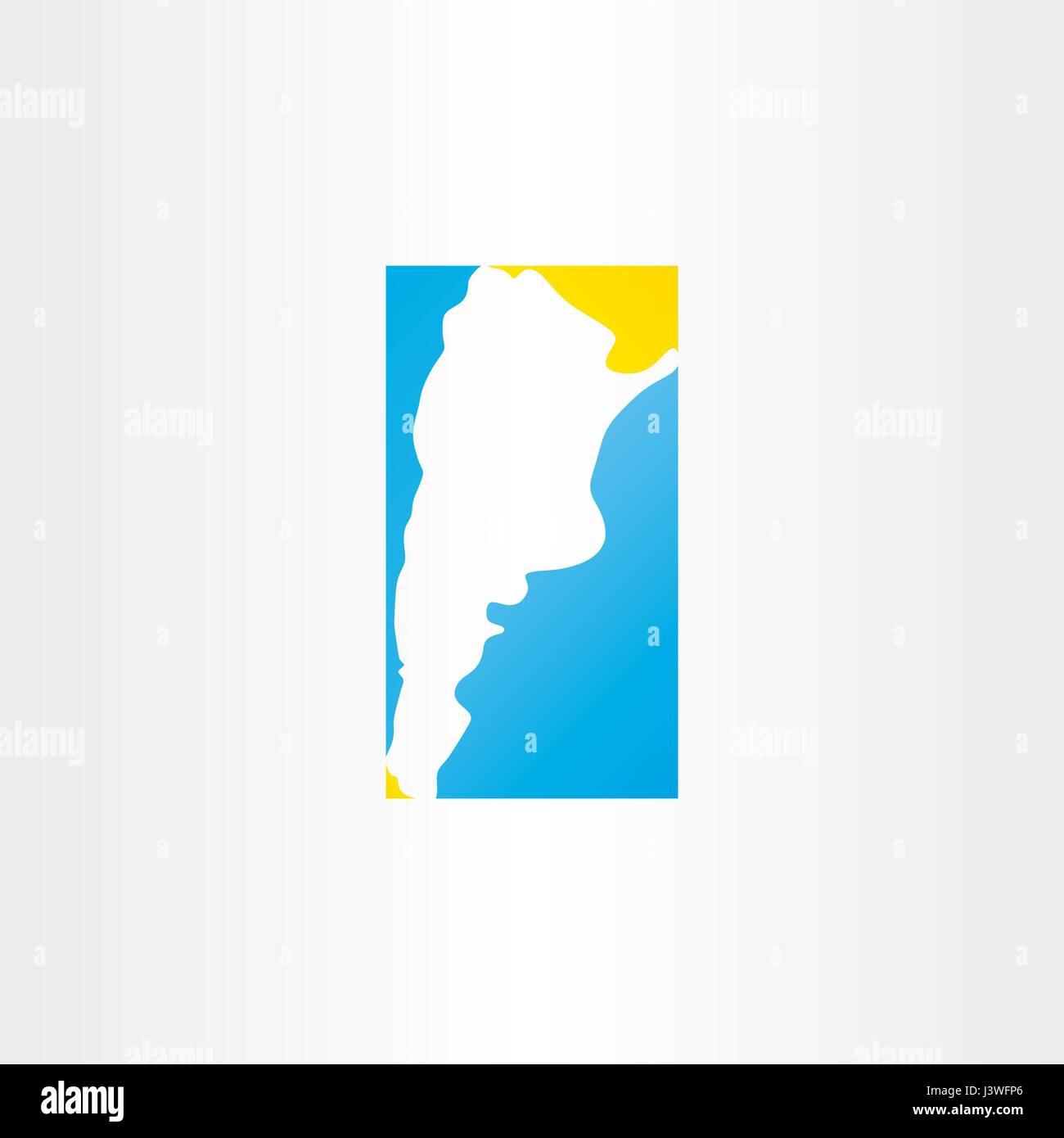 Logo Argentina Map Vector Icon Stock Vector Art Illustration - Argentina map vector