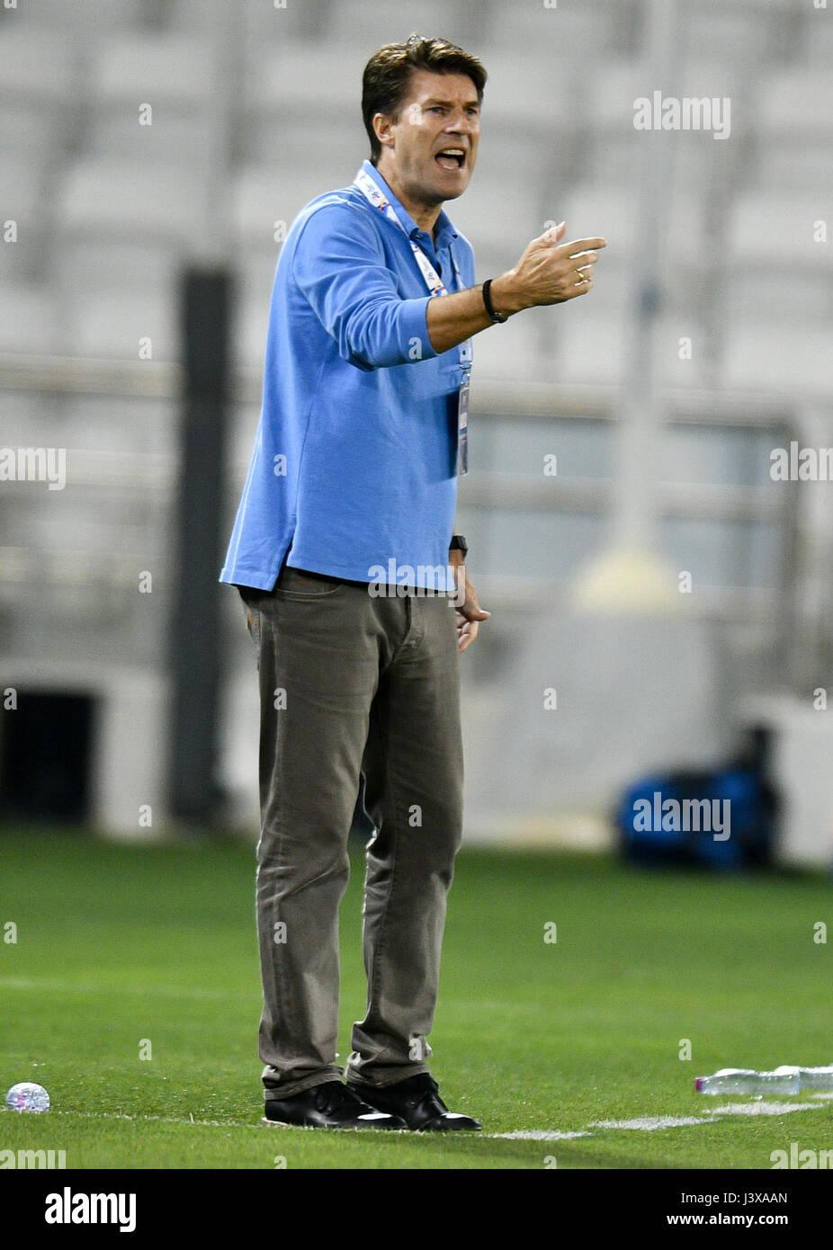 Doha Qatar 8th May 2017 Michael Laudrup head coach of AL