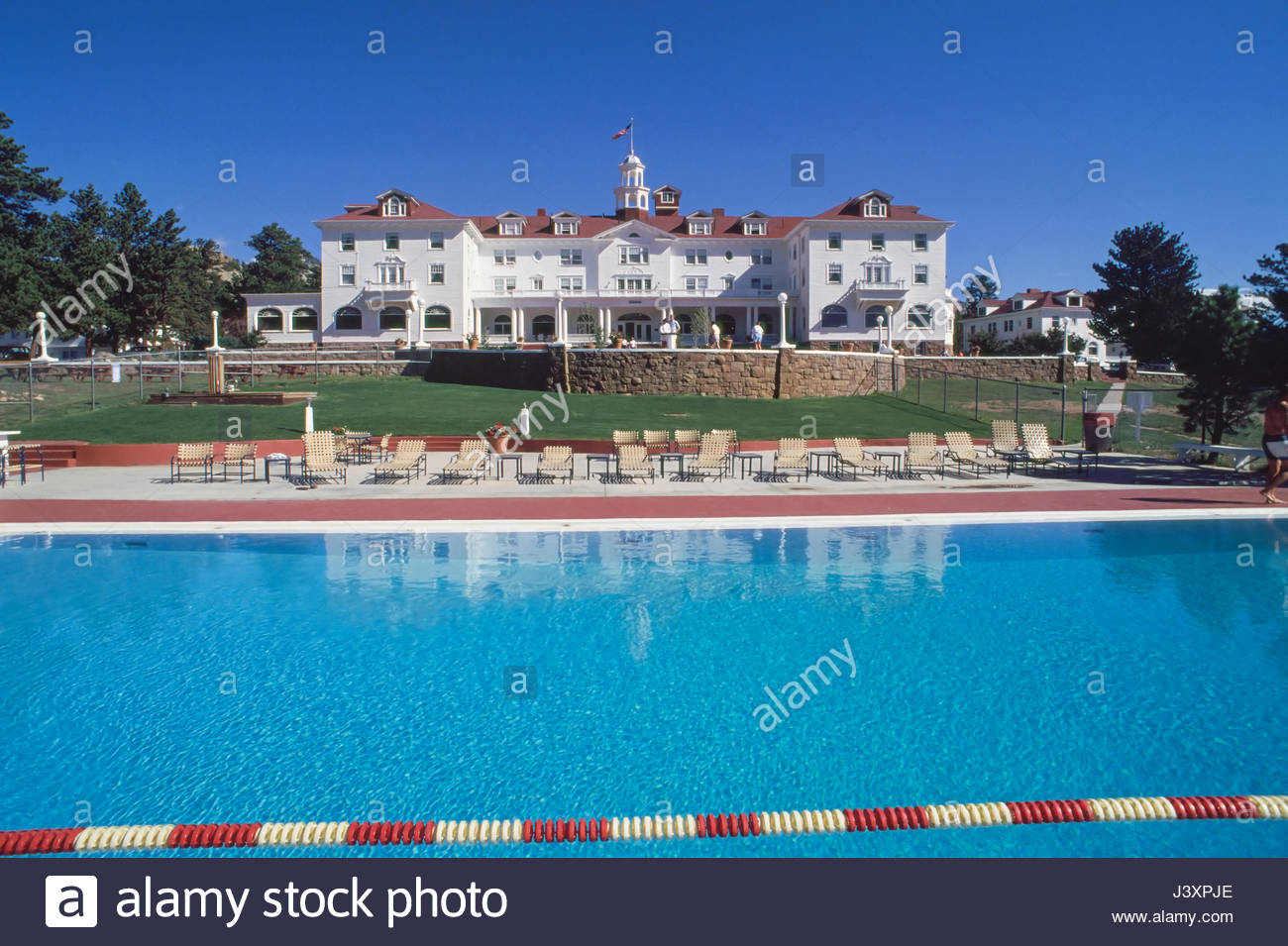 The Swimming Pool At The Stanley Hotel Estes Park Larimer County Stock Photo Royalty Free