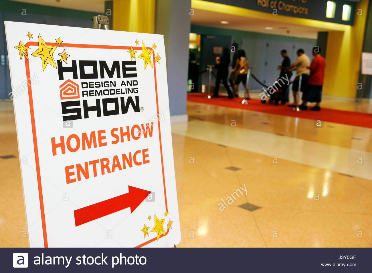 Miami Beach Miami Florida Beach Convention Center Spring Home Design And Remodeling  Show Exhibitor Shopping Decor Sign Arrow Dir