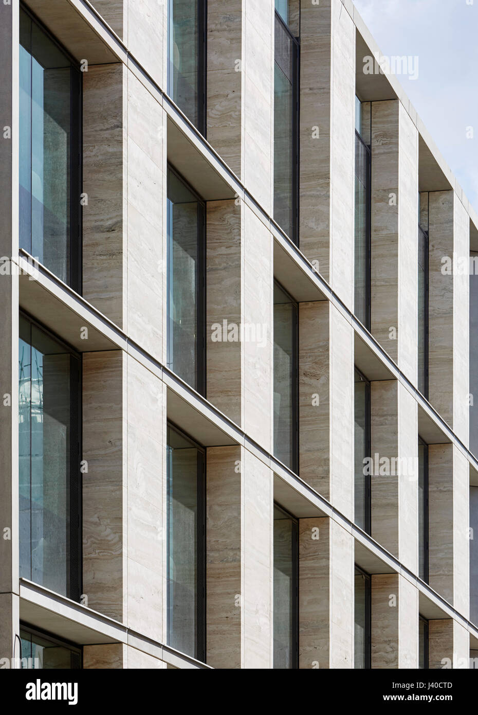 stock photo travertine facade with glazing in perspective chancery lane london united kingdom architect bennetts associates architects 2015 - Travertine Hotel 2015