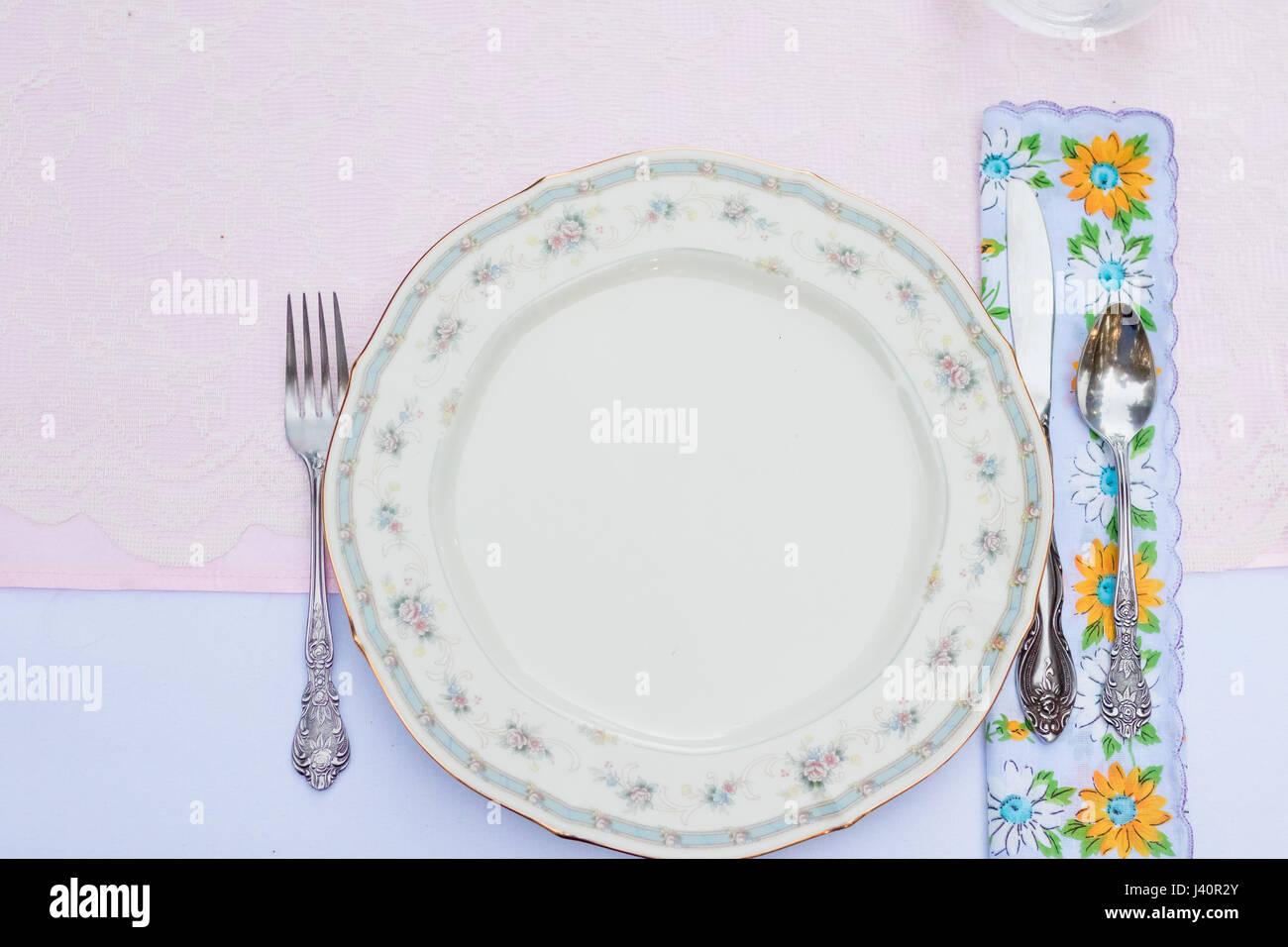 Antique Wedding Reception Plates