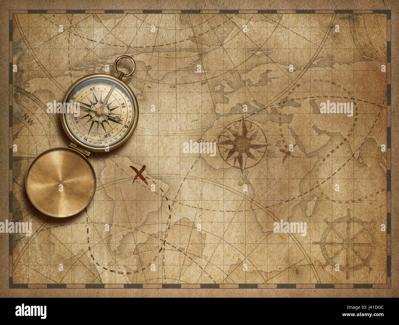 Adventure and explore with old nautical world map 3d illustration adventure and explore with old nautical world map 3d illustration map elements are furnished by nasa gumiabroncs Images