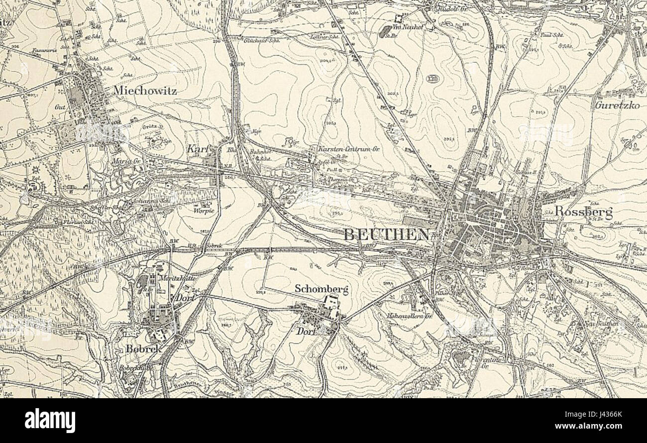 messtischblatt 5679 (ex 3309) beuthen 1883 cropped stock photo, Esstisch ideennn