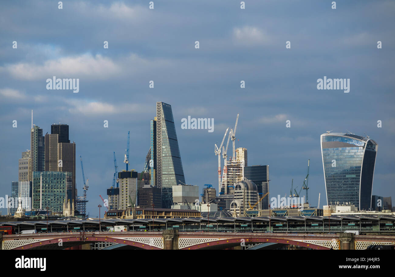 Architecture Buildings In London iconic modern architecture buildings on the skyline of city of