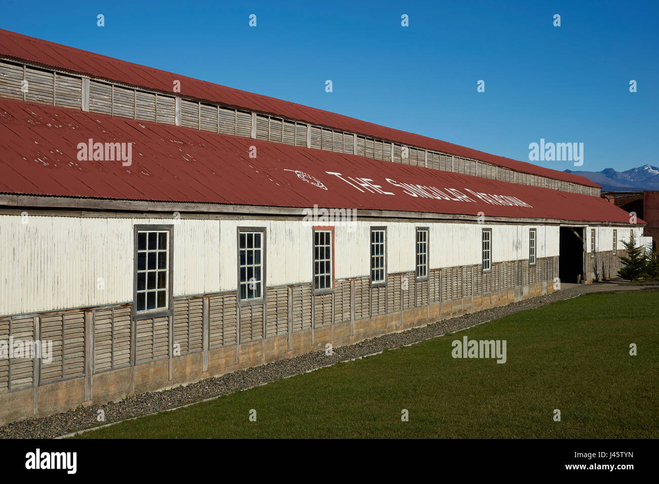 Historic buildings of a former meat refrigeration plant that have ...