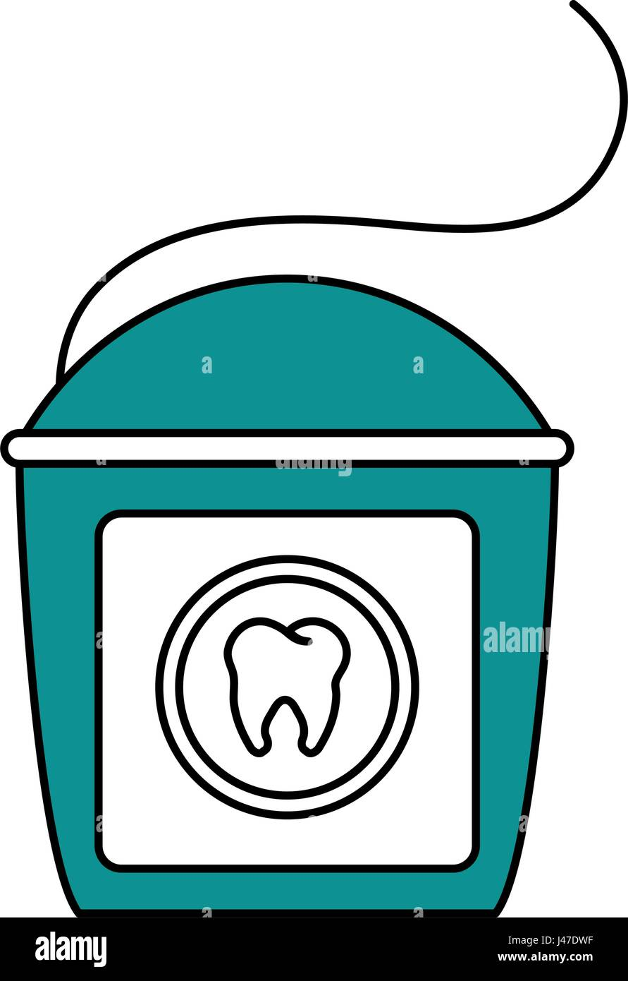 Color Silhouette Cartoon Dental Floss For Oral Health