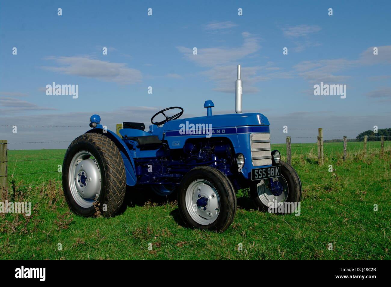 Leyland 154 Vintage Tractor Stock Photo  Royalty Free
