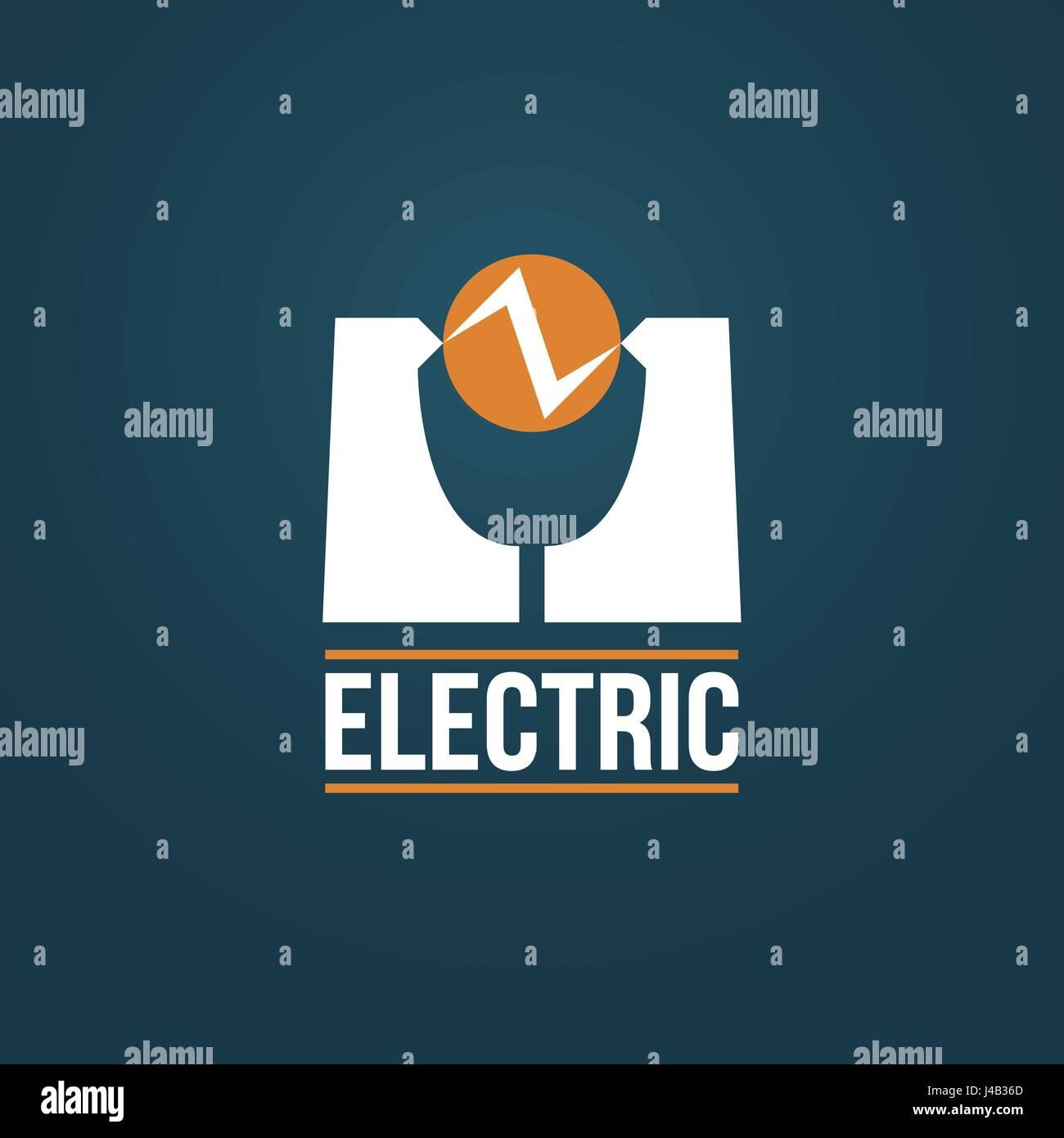 Creative electrical vector logo design. Electric discharge between ...
